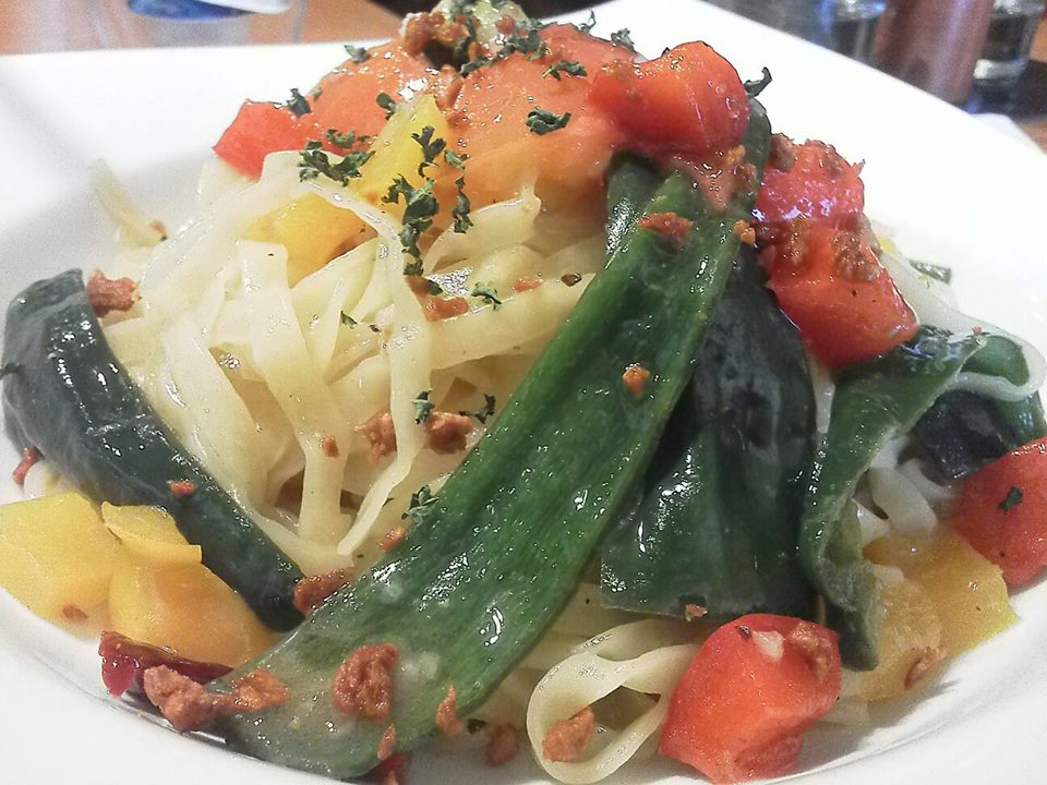 バール夏野菜のペペロンチーノ
