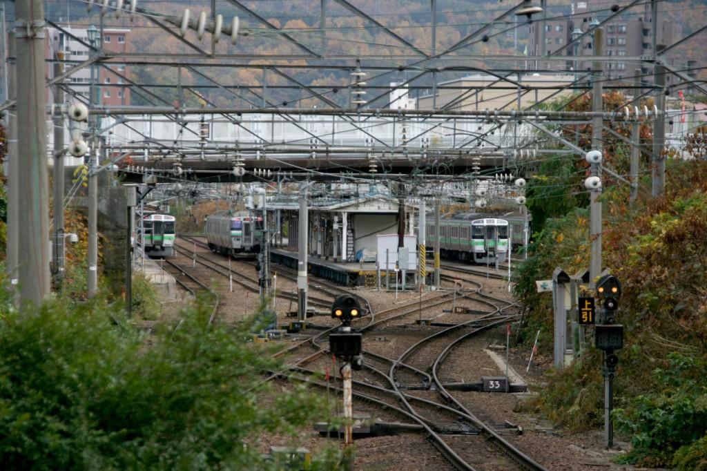 龍宮神社から駅