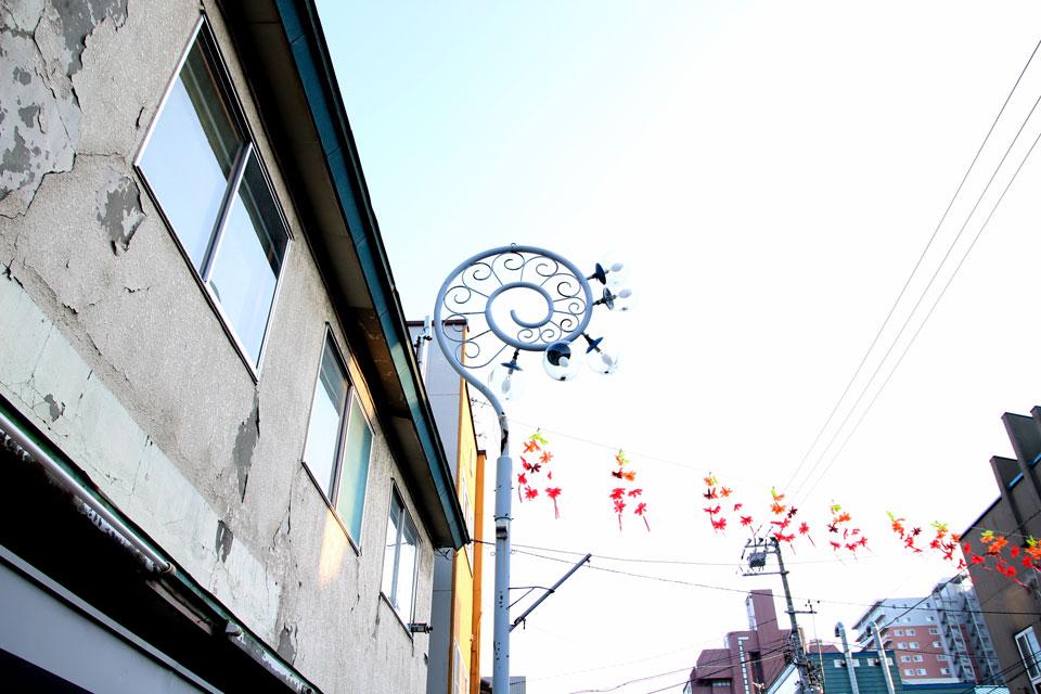 梁川商店街街灯