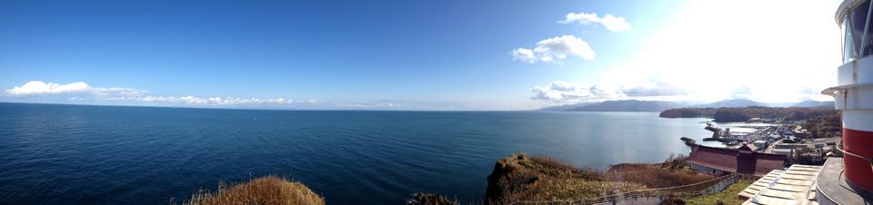日和山灯台パノラマ