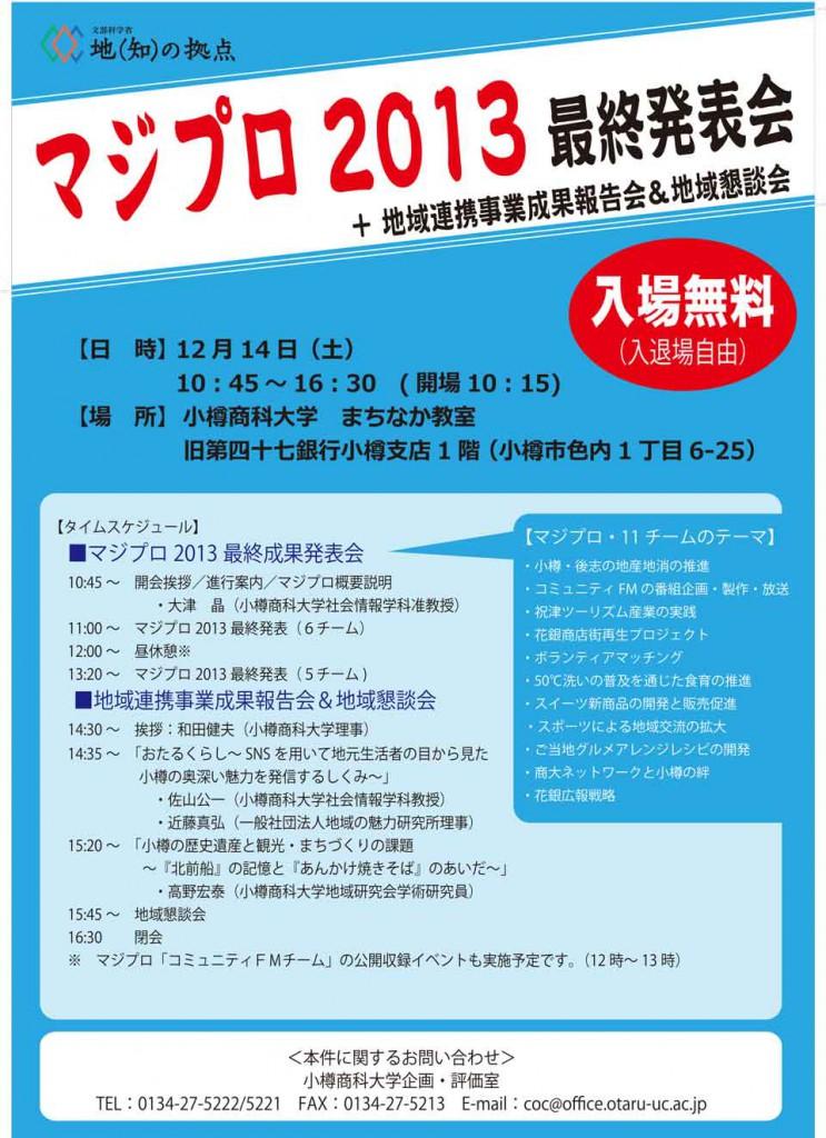 2013マジプロ報告会