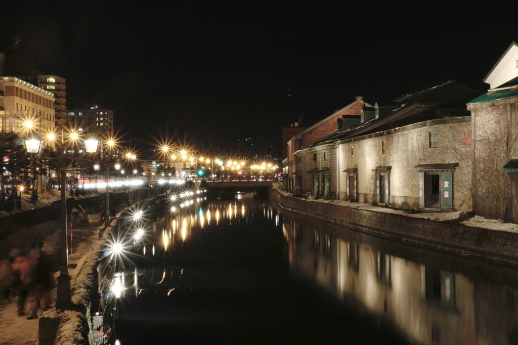 小樽運河夜