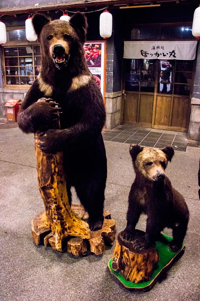 クマの剥製親子2