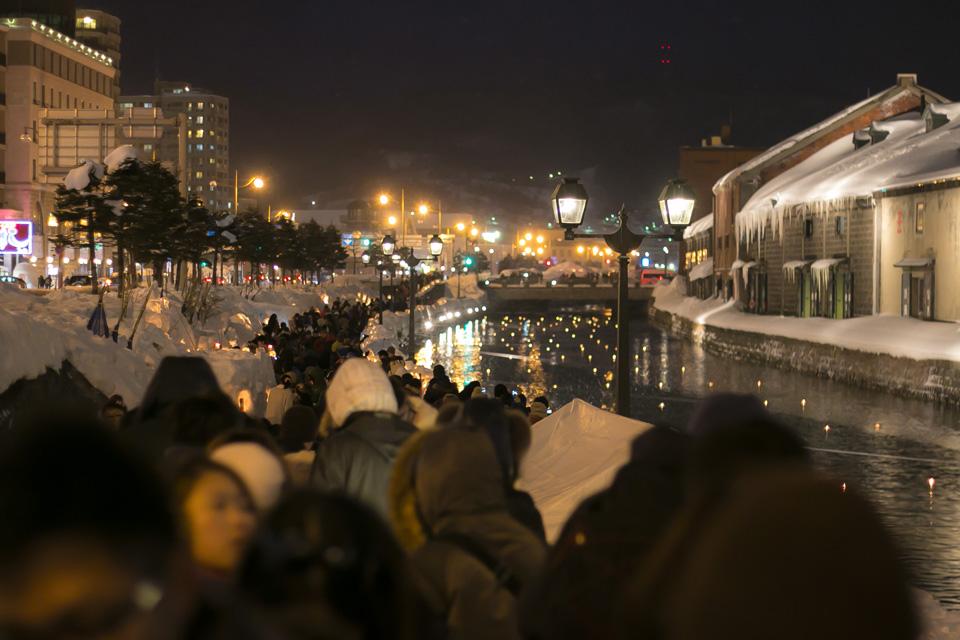 小樽雪あかりの路-最終日-小樽運河会場