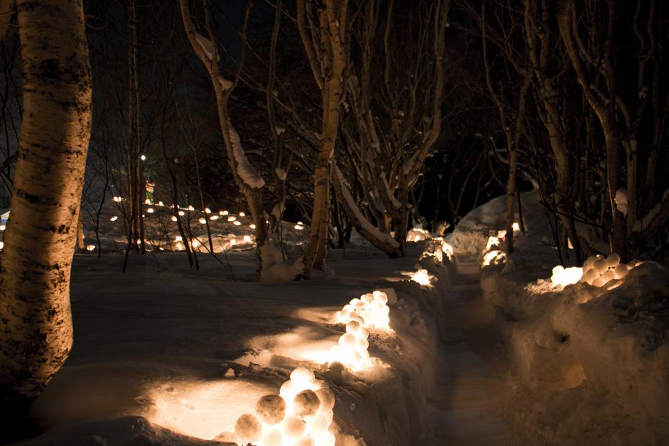 小樽雪あかりの路塩谷会場