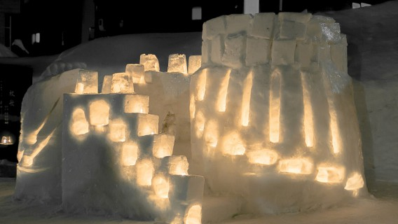 小樽水産高校小樽雪あかりの路