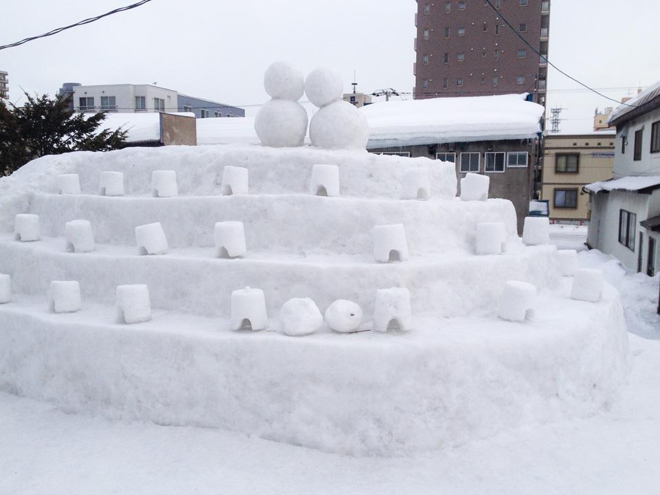 旧手宮線雪あかり準備