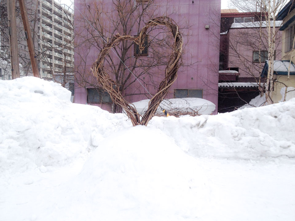 旧手宮線雪あかりの路準備2