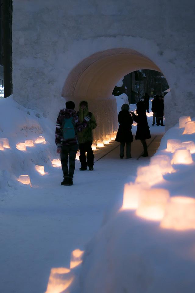 小樽雪あかりの路-旧手宮線1