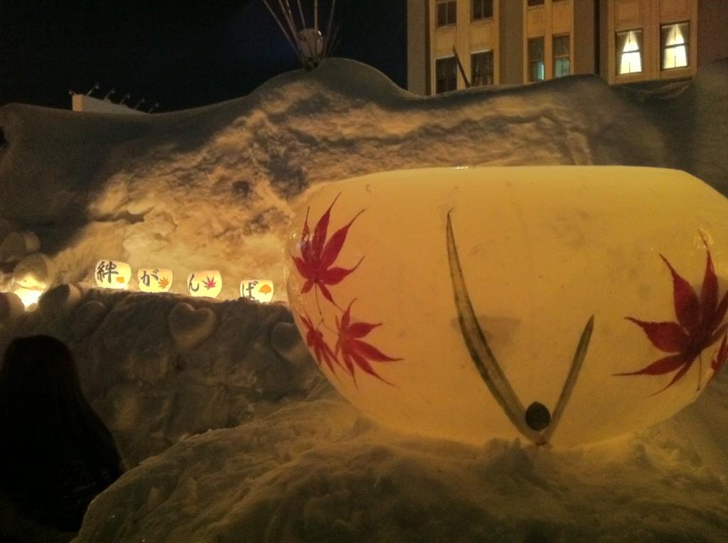 小樽雪あかりの路2012 小樽運河会場5
