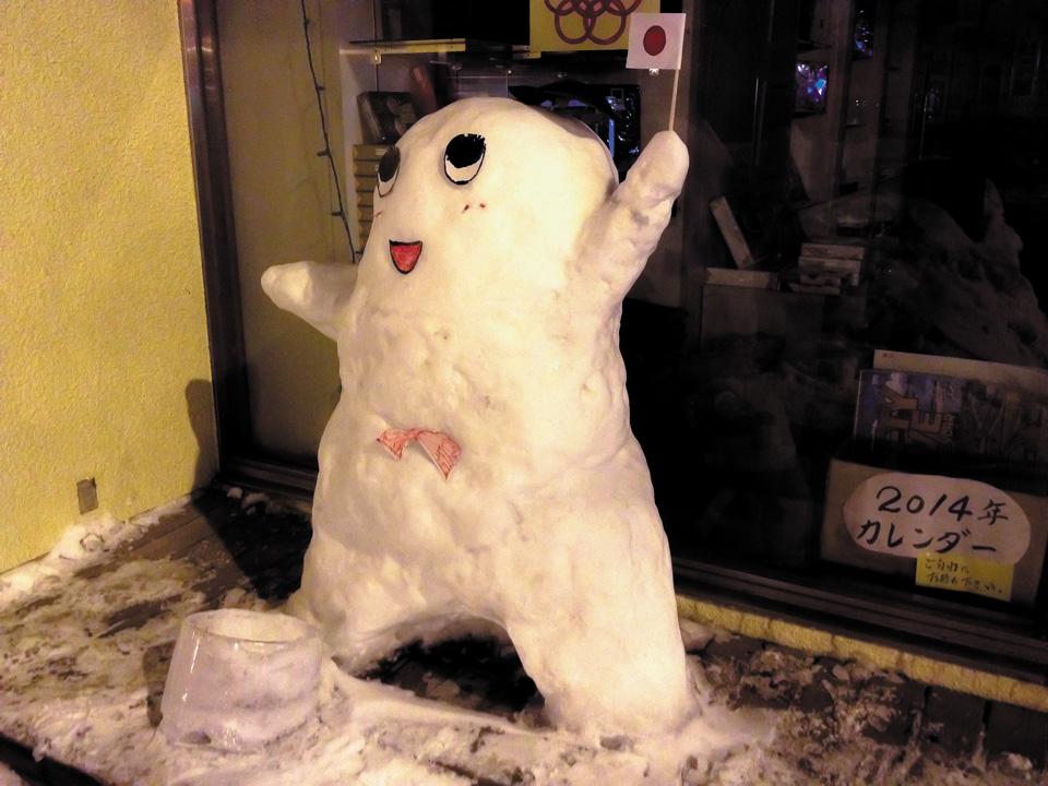 ふなっしー雪像