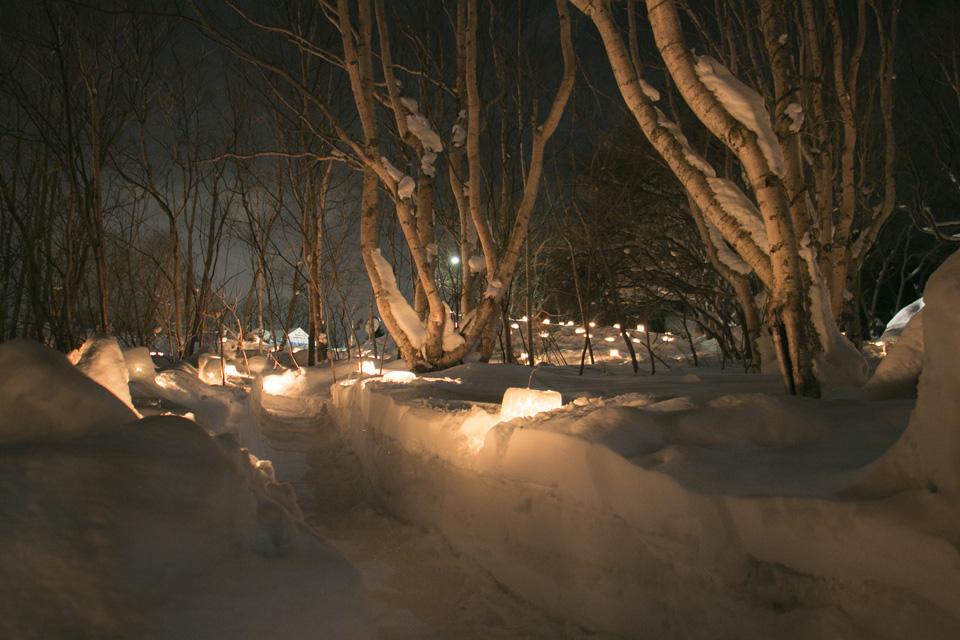 小樽雪あかりの路塩谷会場2