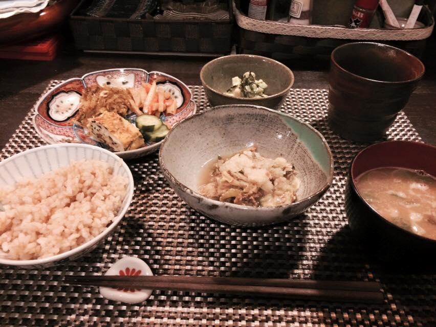 まり食堂の晩ご飯