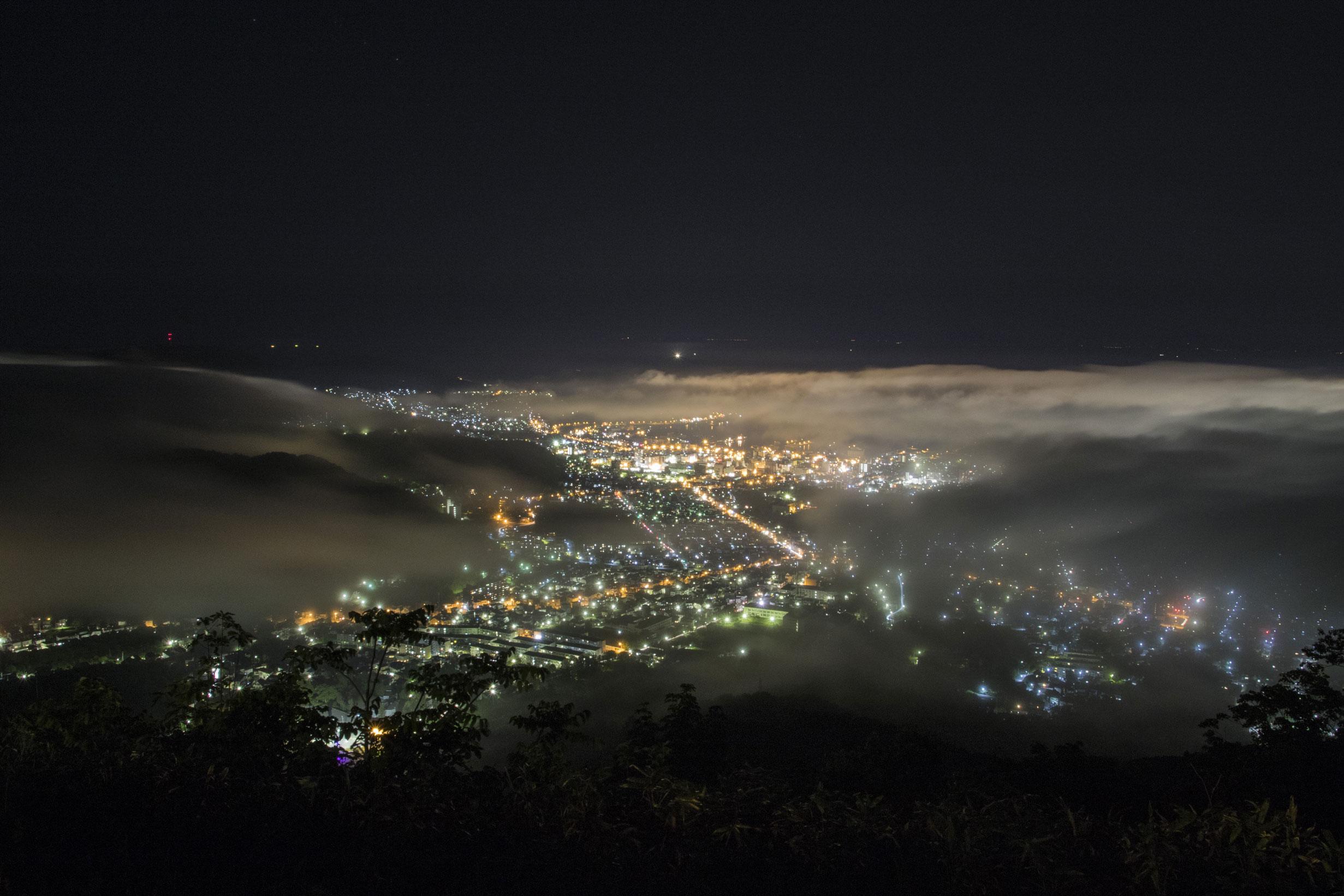 天狗山夜景雲