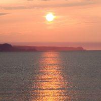 蘭島海岸の夕陽